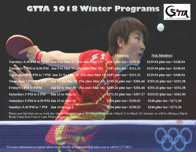 2018 Winter Program