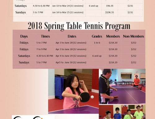 2018 Calgary Winter Programs