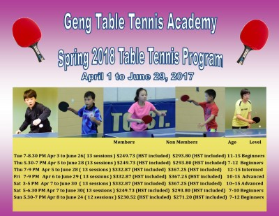2018 Spring Program