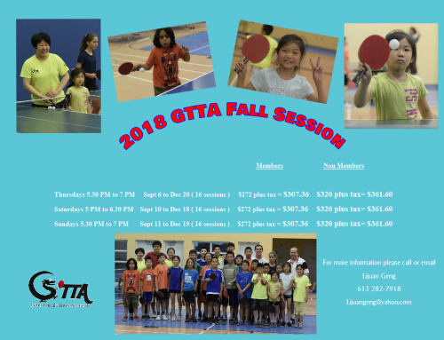 2018 GTTA Ottawa Fall Programs