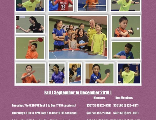 2019 Ottawa Fall Programs