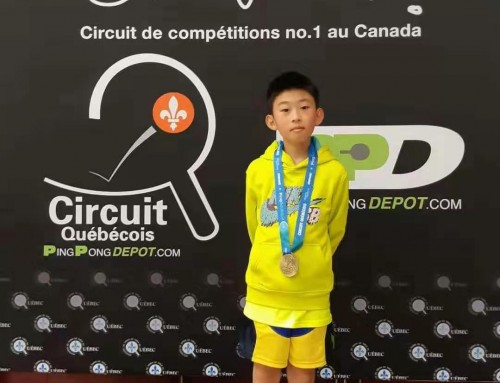 Medals in Montreal Tournament Dec 2019